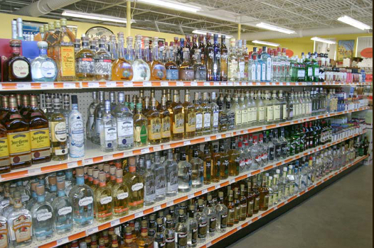 A large selection of premium spirits.